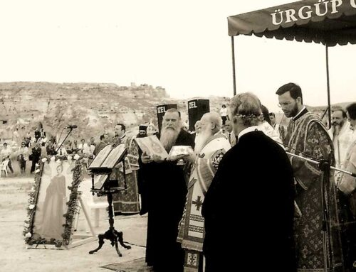 Ecumenical Patriarch Bartholomew declares the commencement of the feast of the Saint in Prokopi of Cappadocia, 2001